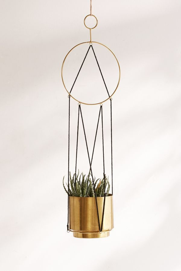 Urban Outfitters Triangle String Hanging Planter