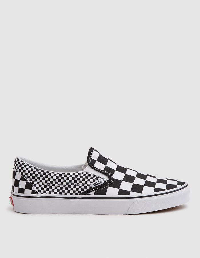 Classic Slip On Sneaker in Black White Checker