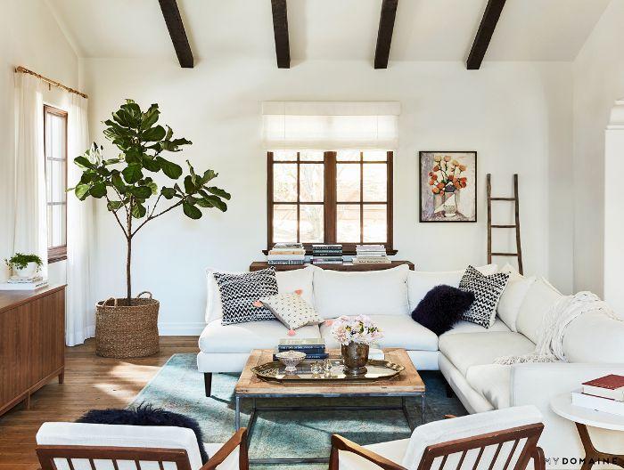 Neutral living room—Lauren Conrad Family Room