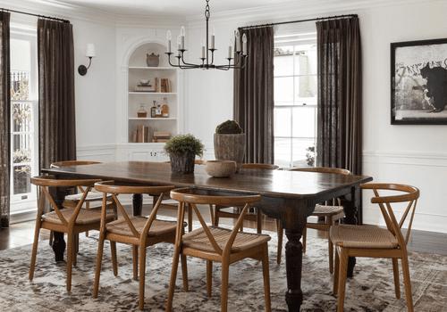 29 Standout Dining Room Curtain Ideas, Dining Room Curtain Ideas Photos