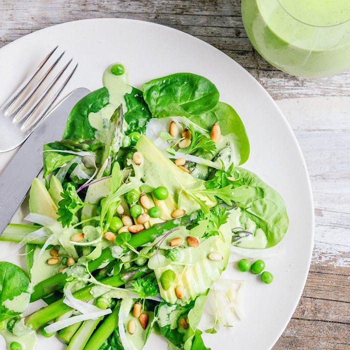 una ensalada saludable