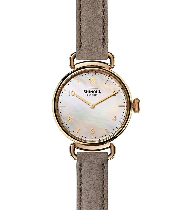 Canfield Leather Strap Watch