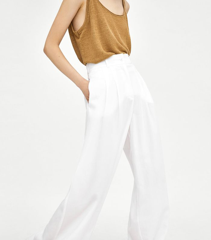 Zara Palazzo Trousers With Darts