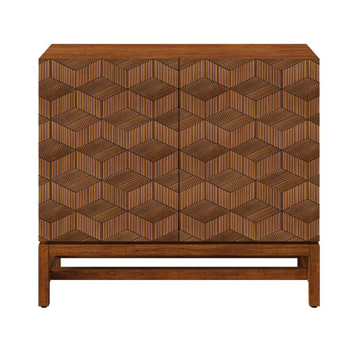 Target Tachuri Geometric Front 2 Door Cabinet Brown