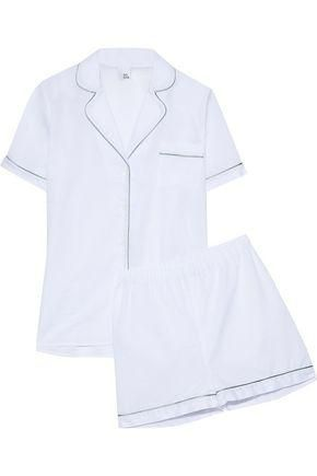 Bailey Metallic-trimmed Cotton-gauze Pajama Set
