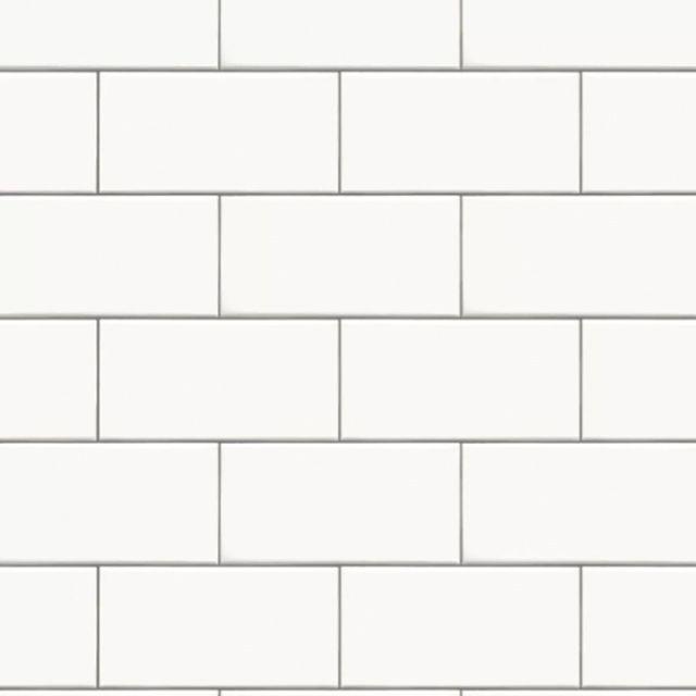 azulejo de metro blanco