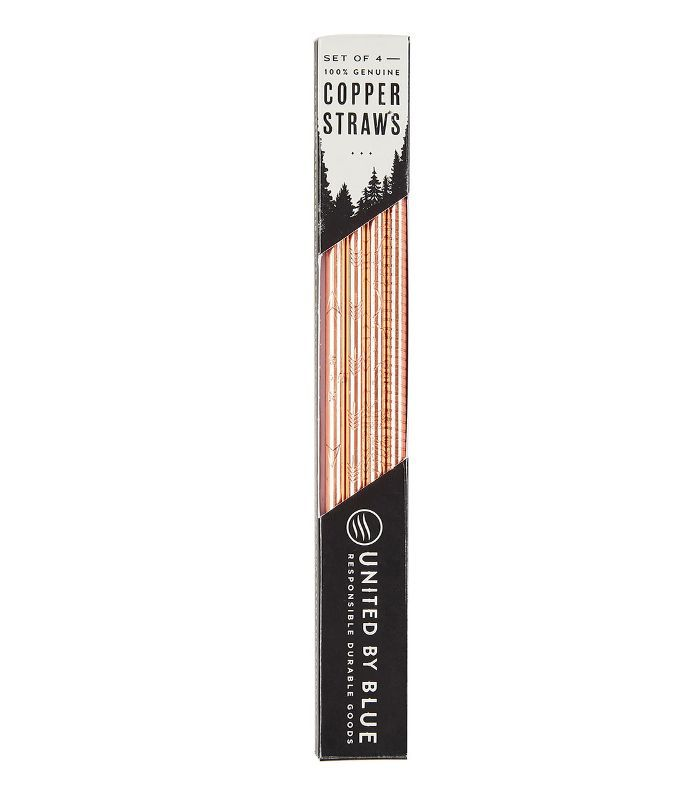 Set Of 4 Copper Straws