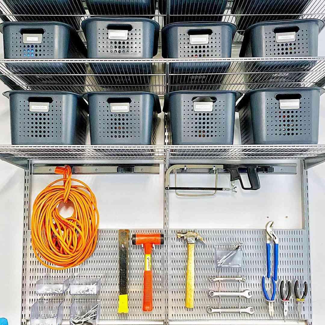 Tools with storage bins