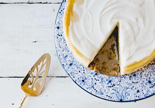 receta de pastel de queso griego