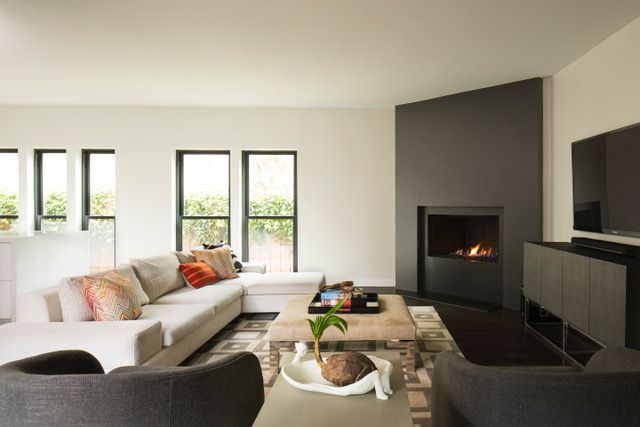 Luxurious fireplace.