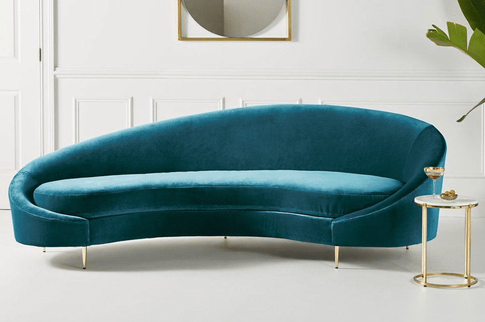 Asymmetrical Serpentine Sofa