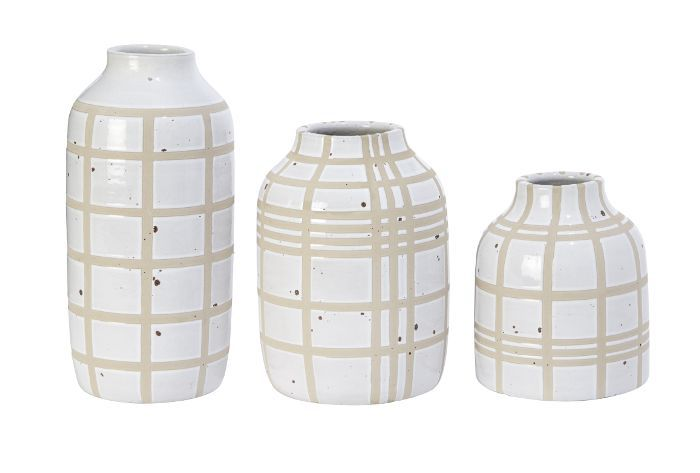 Threshold Window Pane Ceramic Vases