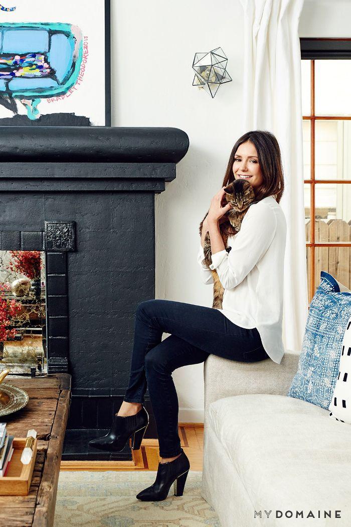Nina Dobrev L.A. home tour   living room