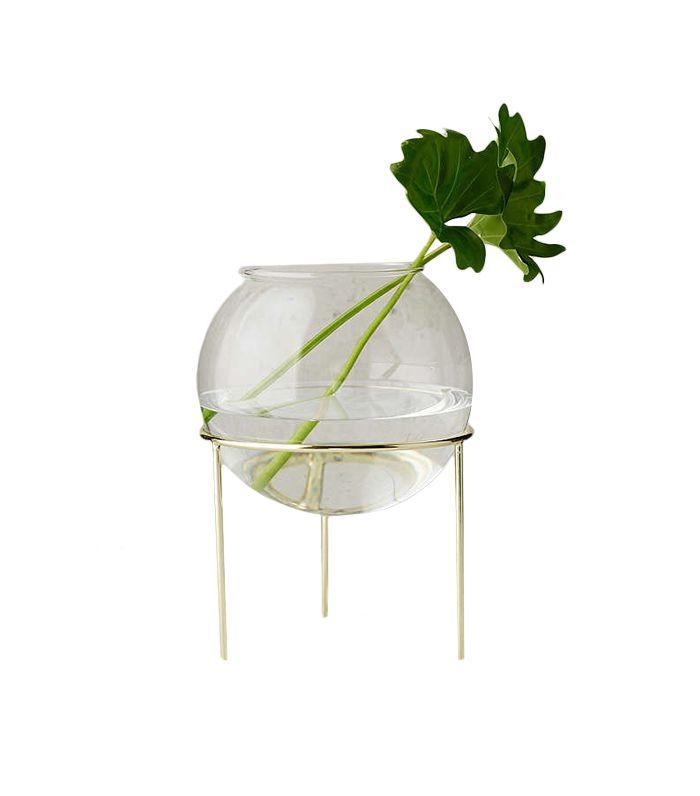 Ida Glass Globe Planter + Tripod Stand