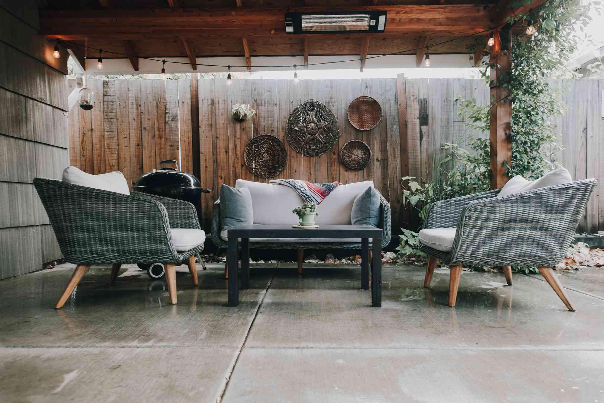 arbor and co apartment patio
