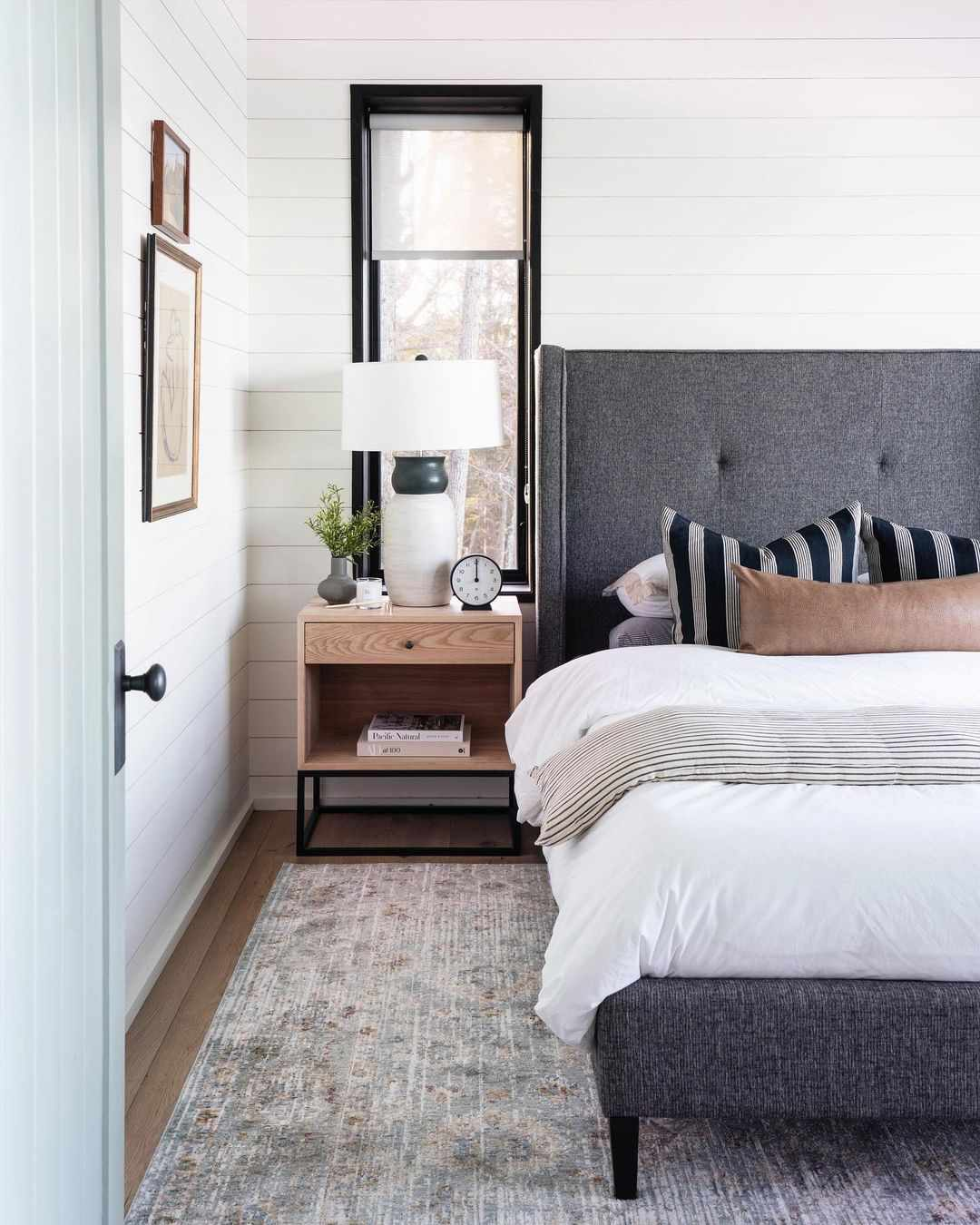 Bedroom with white linens