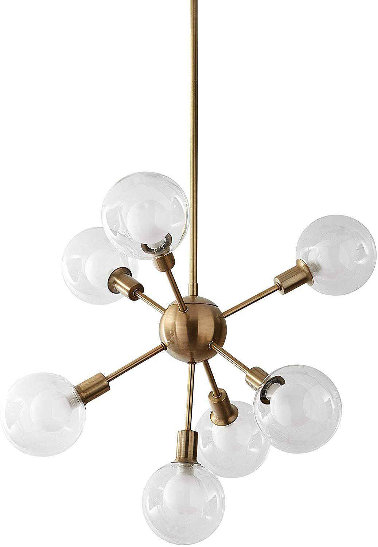 Candelabro Sputnik Globe moderno de mediados de siglo