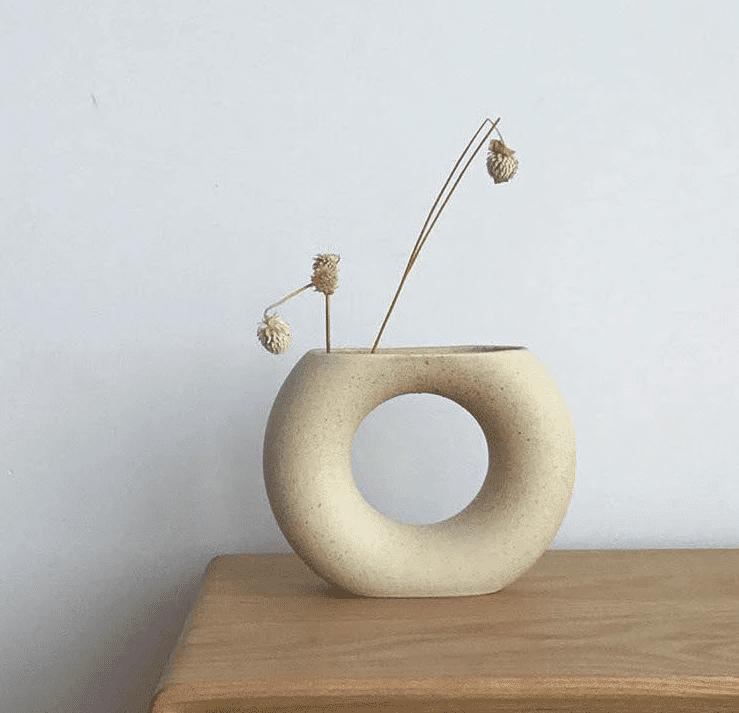 Ceramic Donut Vase
