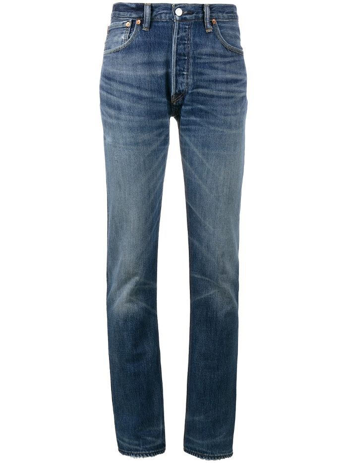 X Cindy Crawford High-Rise Straight Leg Jeans