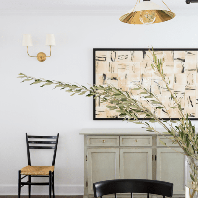 how to decorate with sage - console table