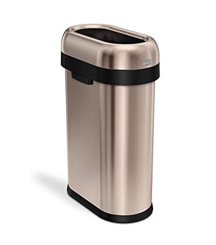 Simplehuman Slim Open Top Rose Gold Trash Can