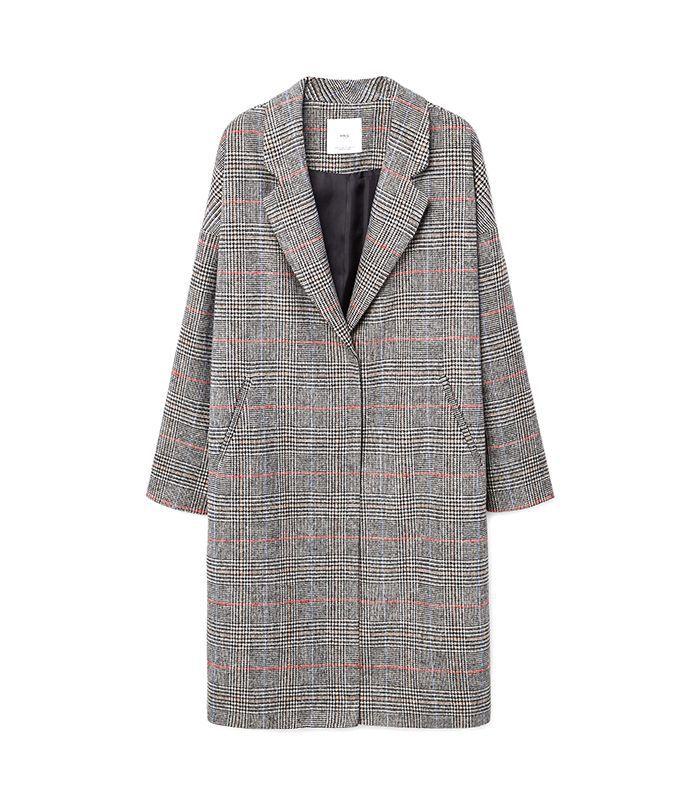 Mango checkered overcoat