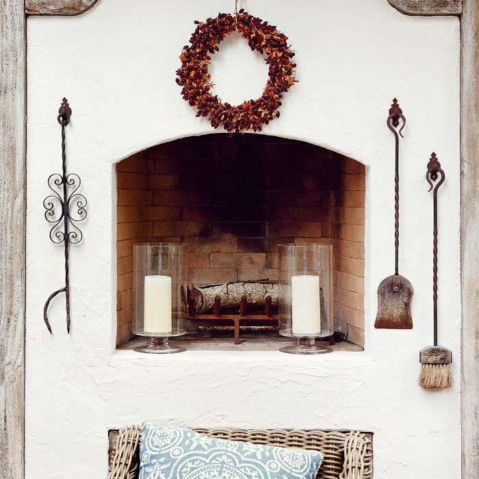 After photo of a fireplace