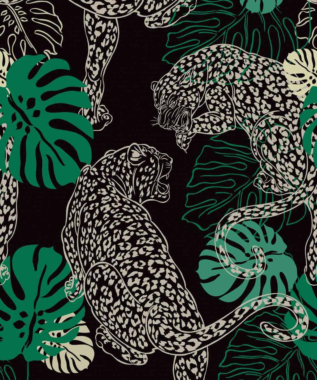 leopard print wallpaper by Milton + King