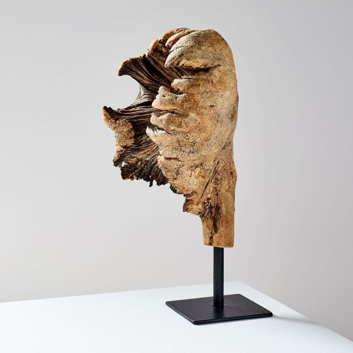 West Elm Wood Tree Ear Object on Stand