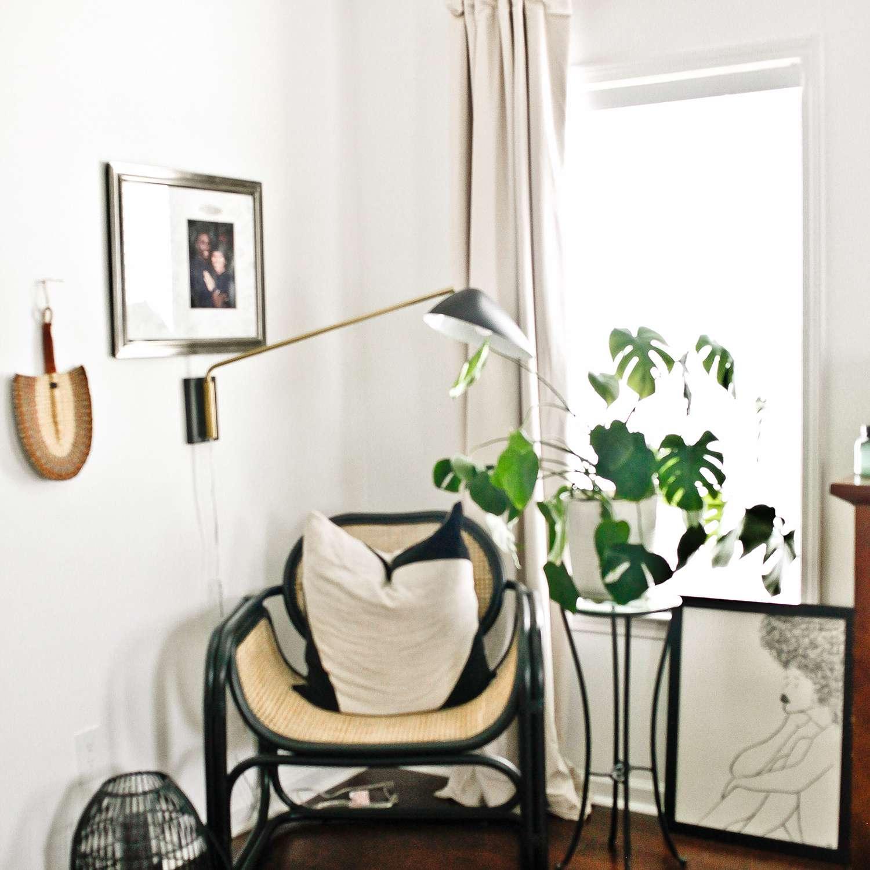 ideas de dormitorio - rincón de lectura acogedor