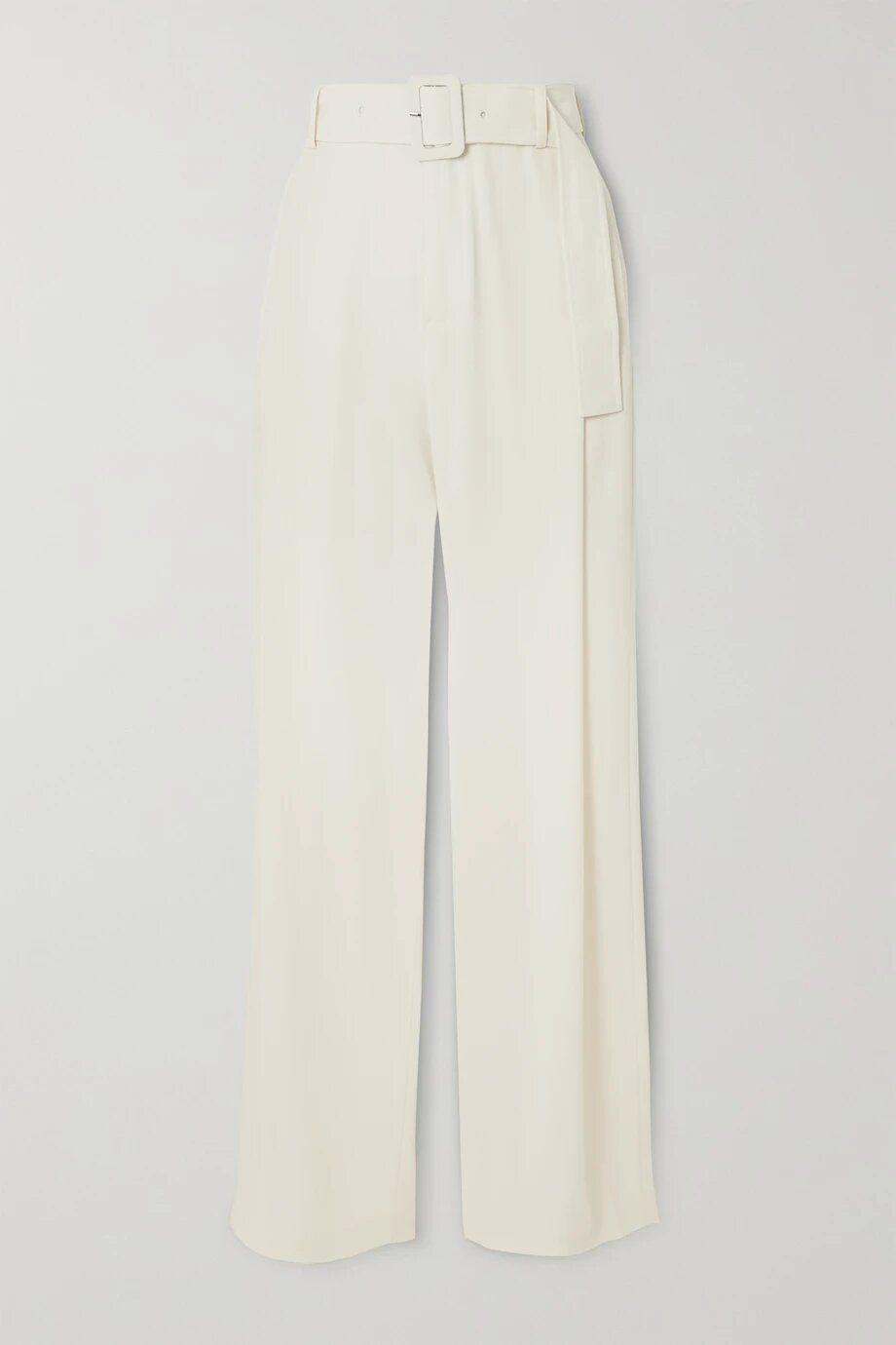 Pantalones anchos con cinturón