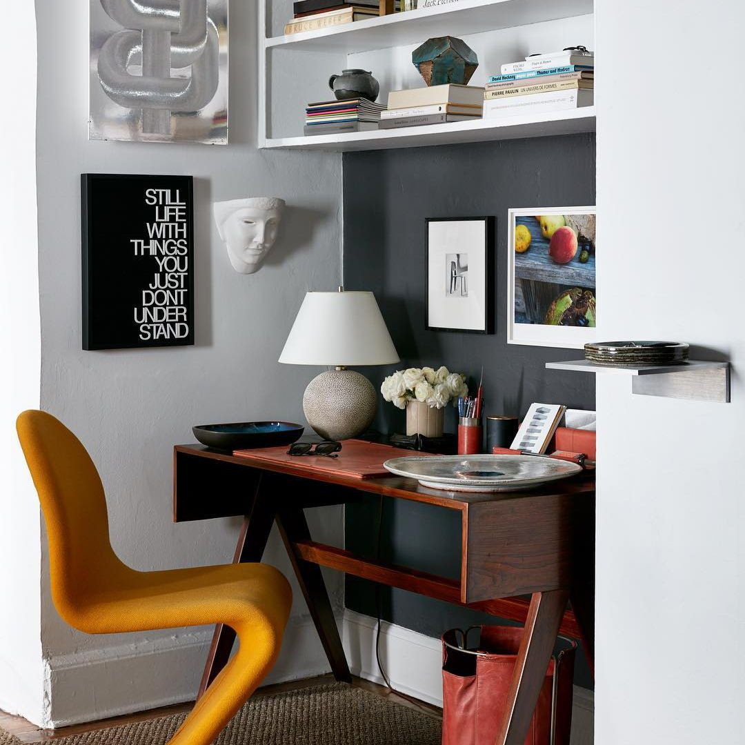 Modern office with abstract type chair