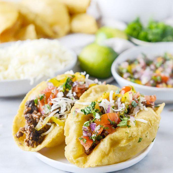 Tacos de carne molida mexicana
