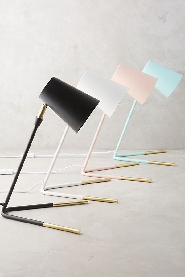Gold-Dipped Task Lamp