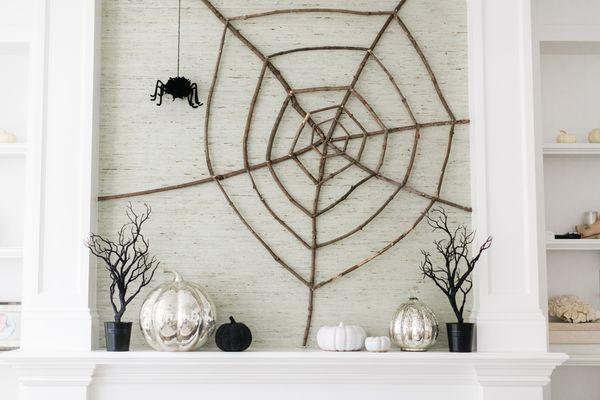 Rustic spider web