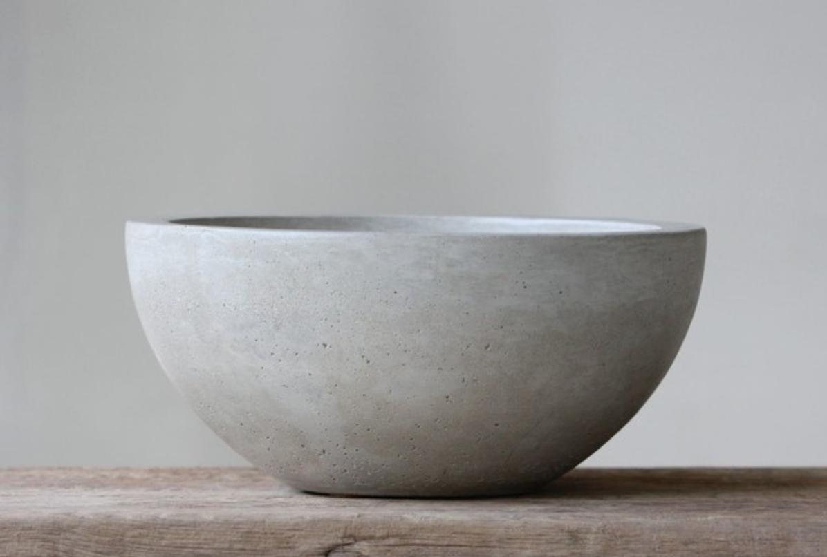 Concrete fruit bowl