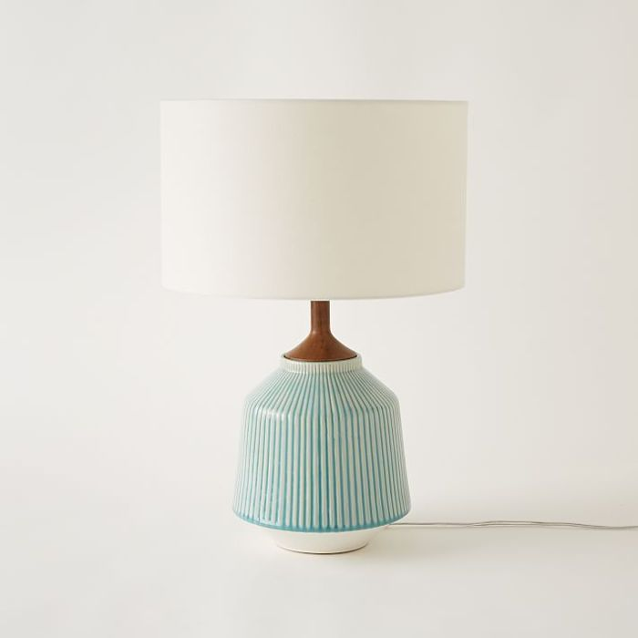 West Elm Roar + Rabbit Ripple Ceramic Table Lamp