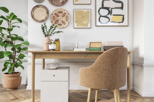 Bohemian home office interior