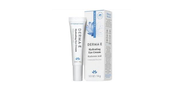 Derma E crema hidratante para ojos, ácido hialurónico