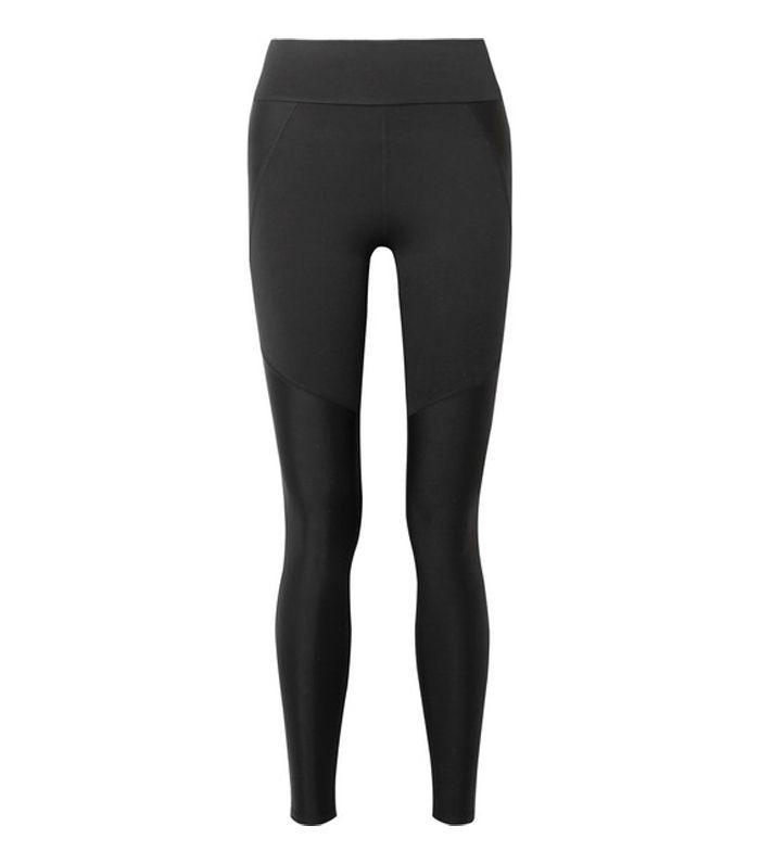Block Paneled Stretch-supplex Leggings