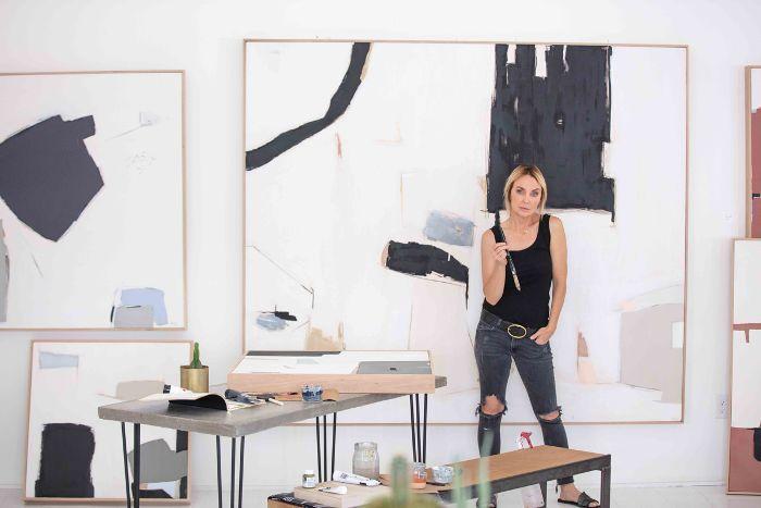 painting studio—Holly Addi