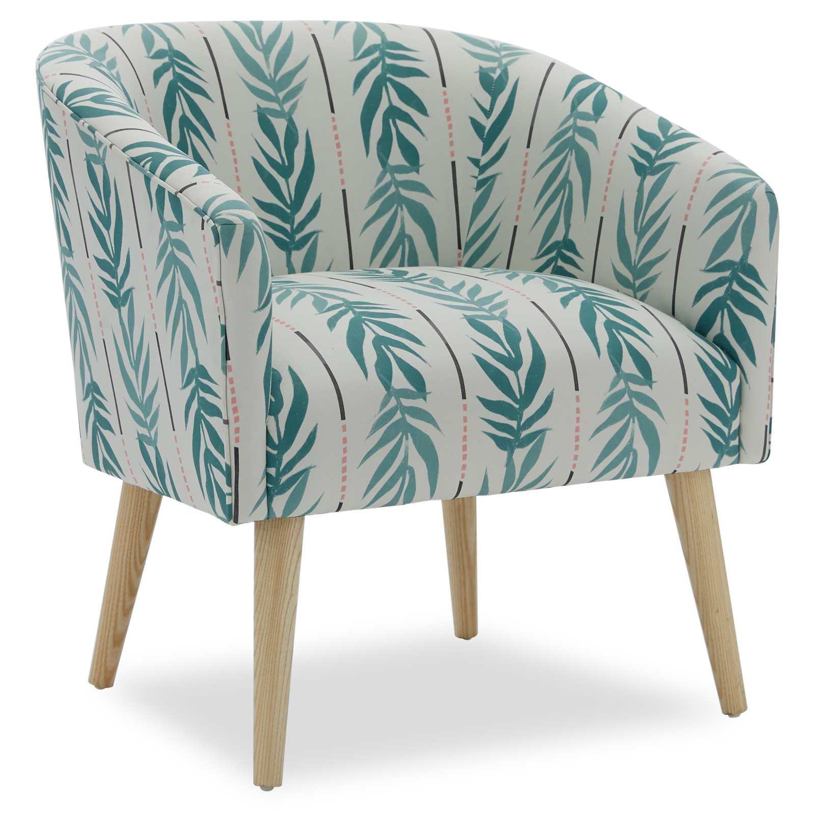 Drew Barrymore Vintage Palm Barrel Accent Chair