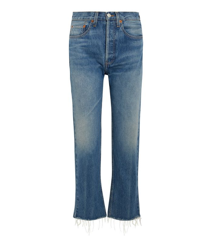 Women's High Rise Stovepipe Crop Jeans