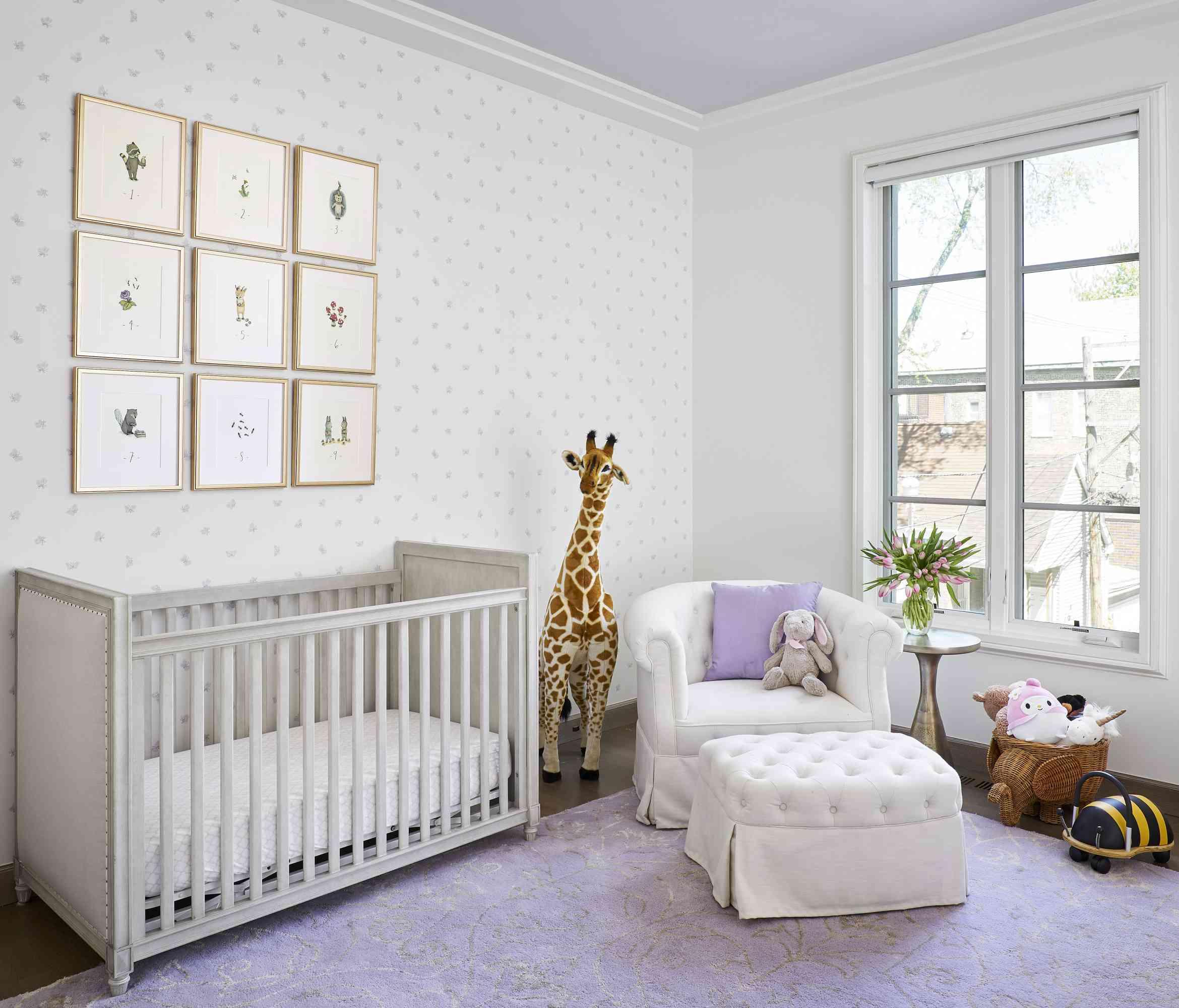 nursery with minimalist aesthetic