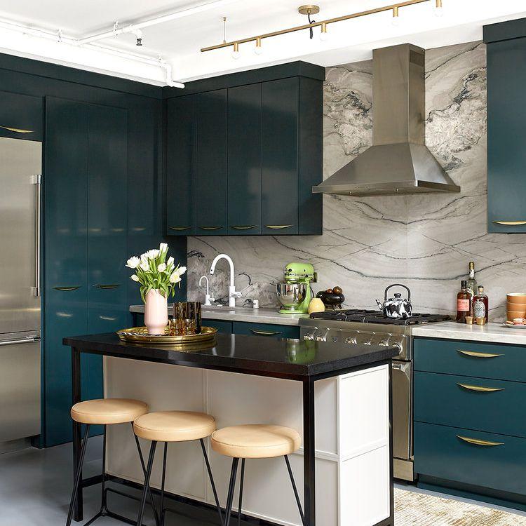 Slim kitchen island