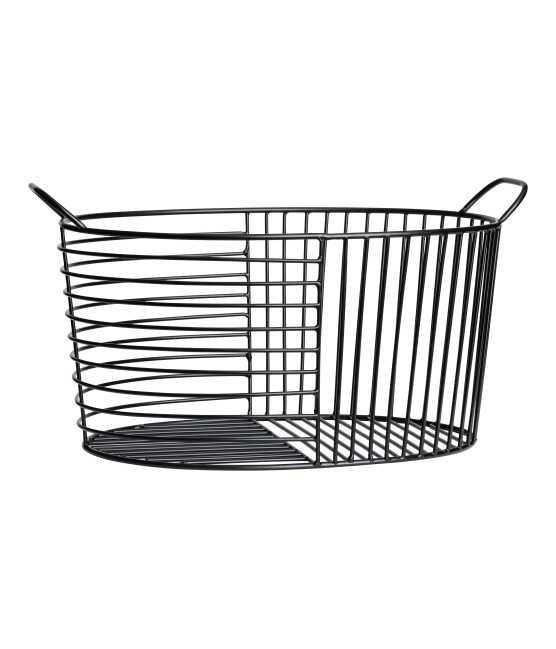 - Metal Wire Basket - Black - H & m Home