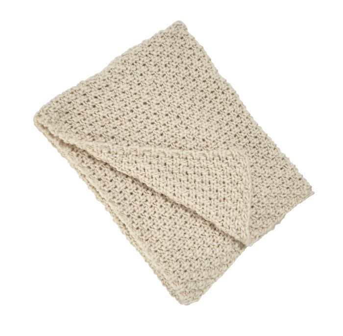 Threshold Chunky Knit Throw in Cream