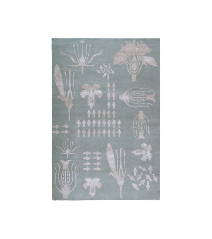Christopher Kane x The Rug Company Botanical Anatomy Grey rug