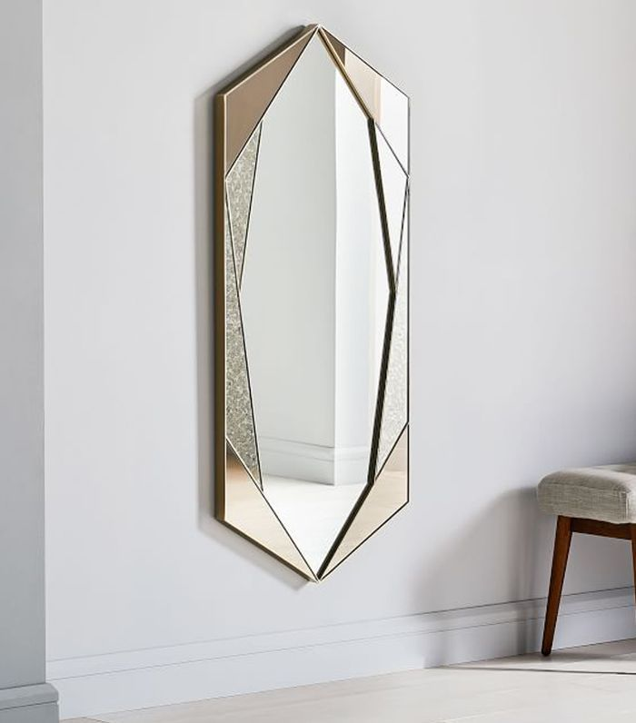 West Elm Tinted Hex Wall Mirror 499