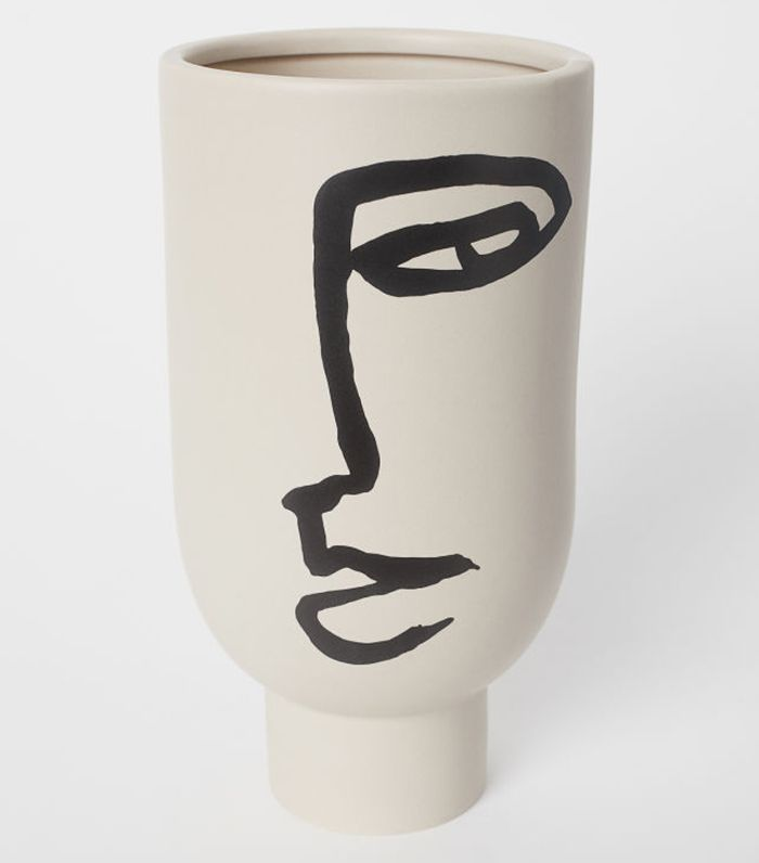 H&M Tall Vase with Motif